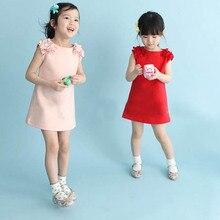 Летняя детская одежда для девочек с цветочным рисунком платье принцессы без рукавов вечернее платье, одежда