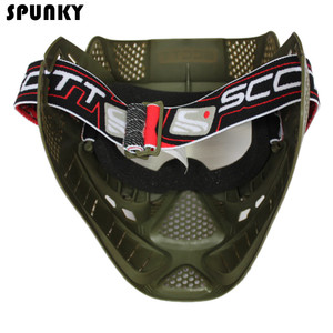 Image 5 - High Strength Paintball Mask or Airsoft Mask with Double Lens Goggle