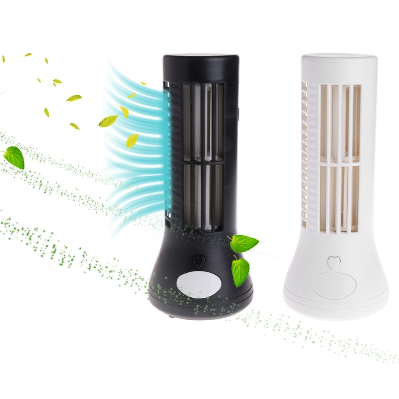 Brand High Quality Portable Mini USB Tower Shape Fan 5V No Leaf Bladeless Rechargeable Air Conditioner Cooling Desk Fan Office набор сверл по бетону bosch 5шт 5 10 2609255417