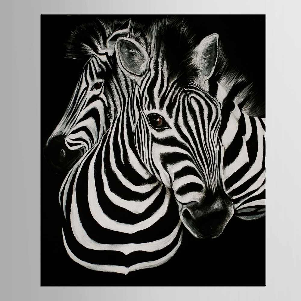 1 panel Black And White Canvas Art Print Poster Zebra Decoracion Infantiles Animal Tableau Christmas Gift
