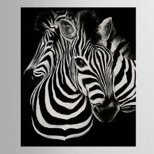 1 panel Black And White Canvas Art Print Poster Zebra Decoracion Infantiles Animal Tableau Christmas Gift(China)