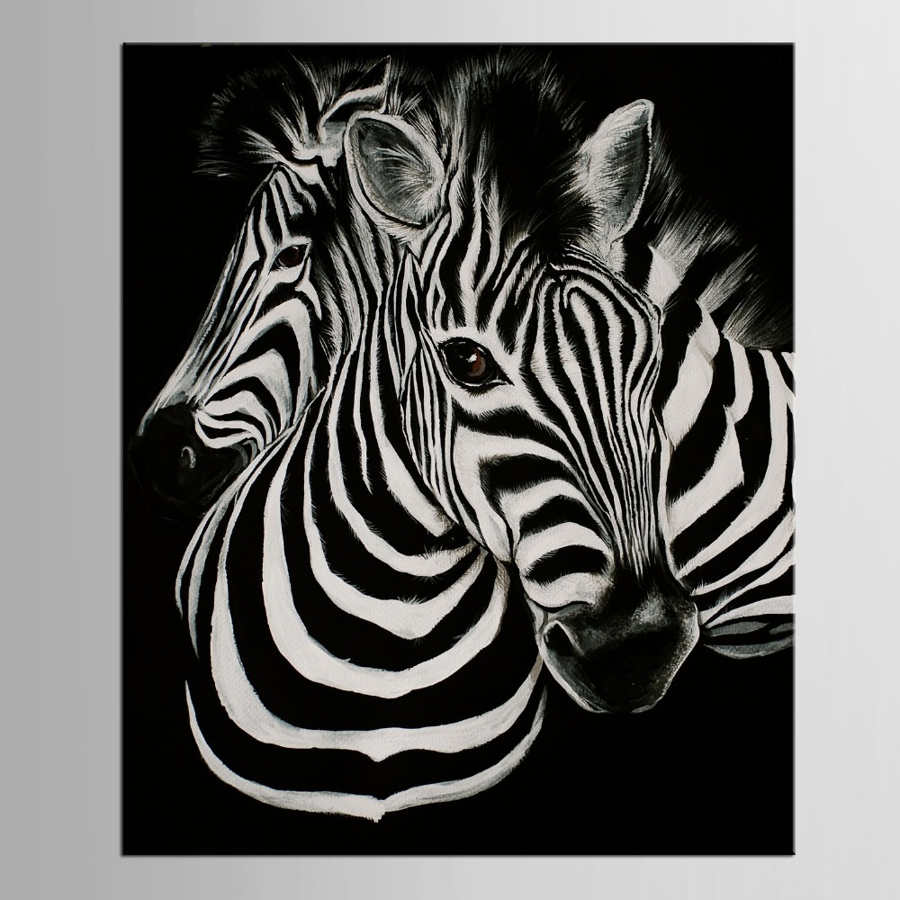 1 panneau noir et blanc toile art print affiche z bre decoracion infantiles animal tableau. Black Bedroom Furniture Sets. Home Design Ideas