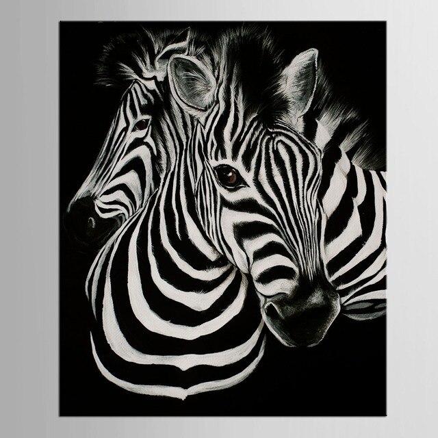 1 Panneau Noir Et Blanc Toile Art Impression Affiche Zèbre