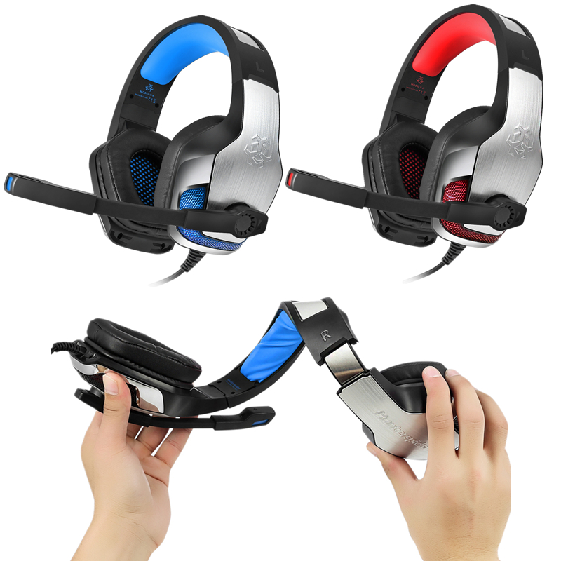 High quality Hunterspider V4 Deep Bass Gaming Headset Earphone Headband Stereo Headset with Mic LED Light Headphone for PC Gamer original xiberia k2 breathing stereo deep bass led light gaming headset with microphone headphone mic music pc gamer headband