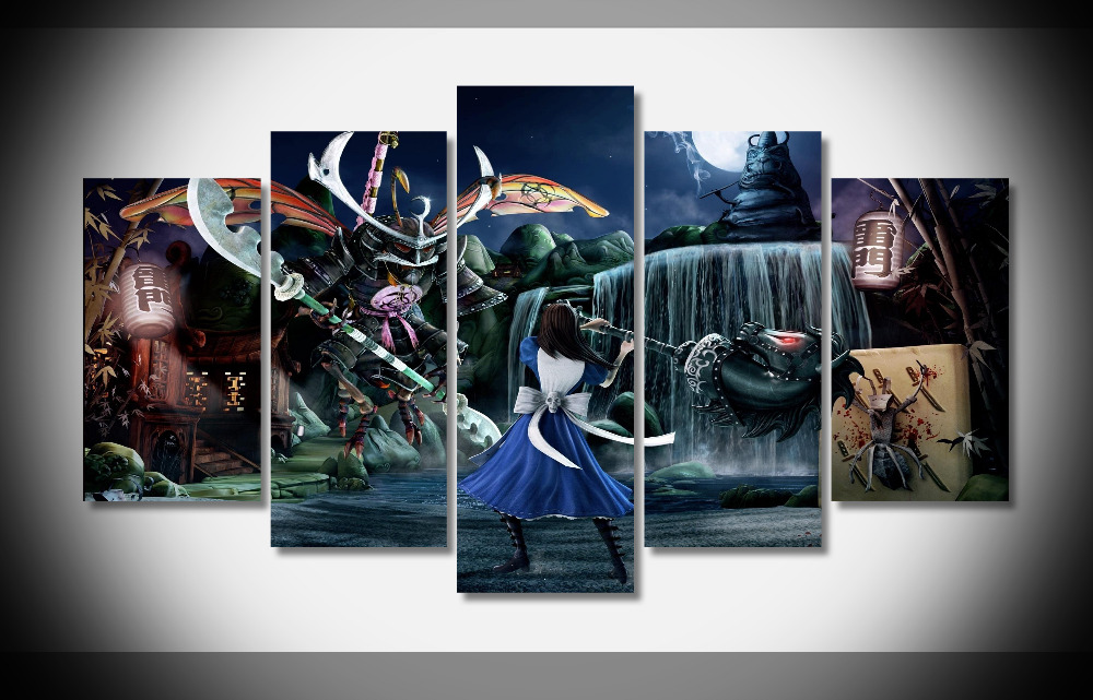 7386 alice madness returns Poster Framed Gallery wrap art print home ...