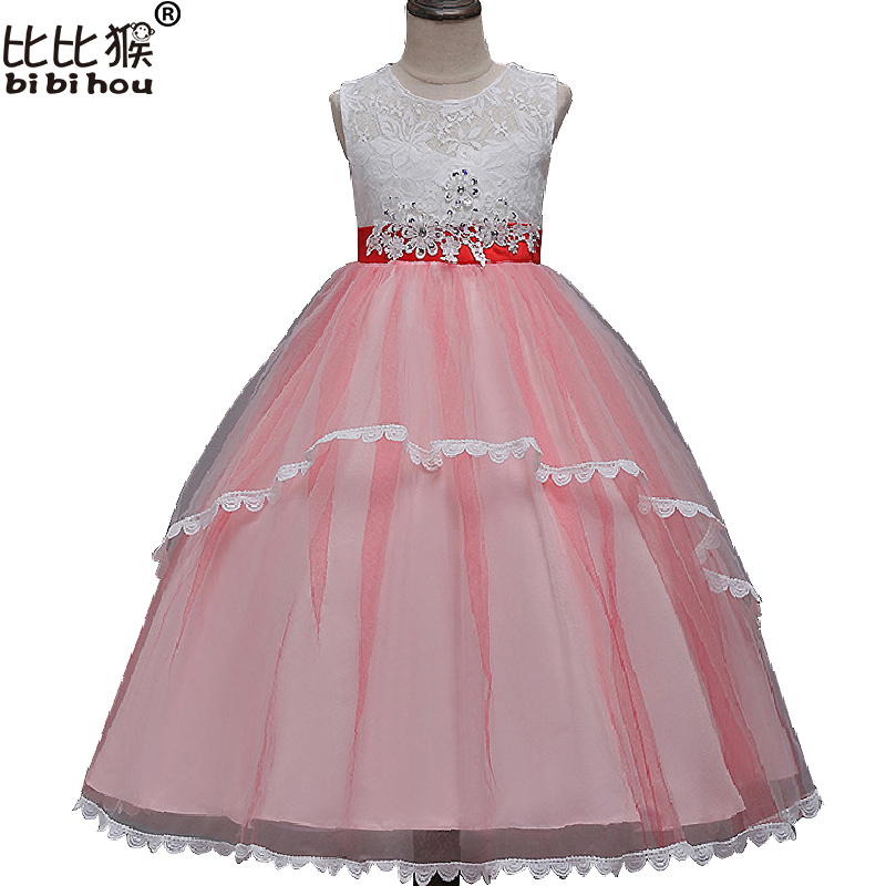 ew   Flower     Girls     Dress   Diamond Sequin Lace   Dress   Formal Bridesmaid Wedding   Girl   Christmas Princess Ball Gown Party Kids Vestido