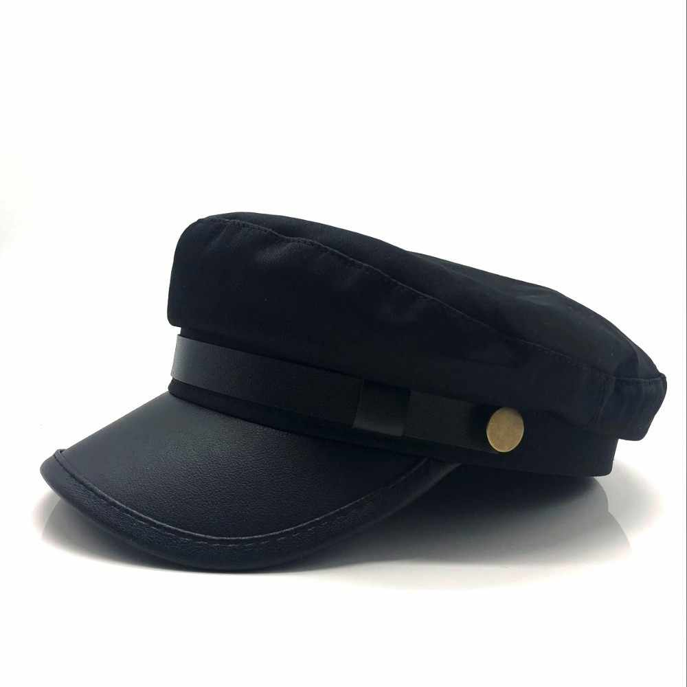 3d7417d21e8 ... 2018 New unisex red black flat navy hat cap women men fashion berets  hot sale street