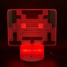 цена на Home Decoration Crafts Game PAC MAN Led Night Light Birthday Gift for Kid Bedroom Baby Touch Sensor Usb 3d Night Lamp Pacman