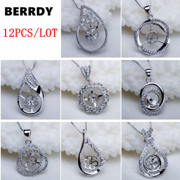 Fashion Pearl Pendant Accessories Setting Pendant Findings Pendant Jewelry Parts Fittings Mountings 12pcs lot