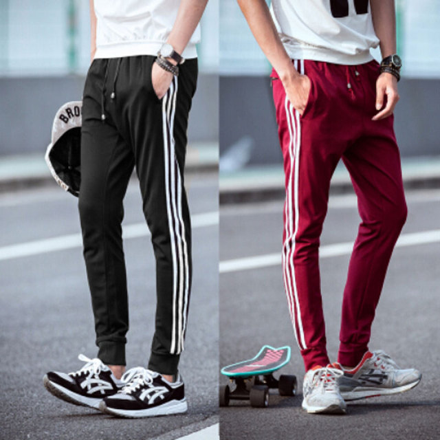 03263ac9ec US $21.39 |GymShark Luxe Fitted Tracksuit Bottoms Mens Skinny Joggers Pants  Men Sweatpants outdoors sport trousers Gym Shark Training Pants-in Harem ...