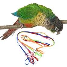 1,2 м попугай поезд поводок 1 см Широкий Регулируемый полиэстер жгут Анти Укус веревка для птиц товары для маленьких питомцев