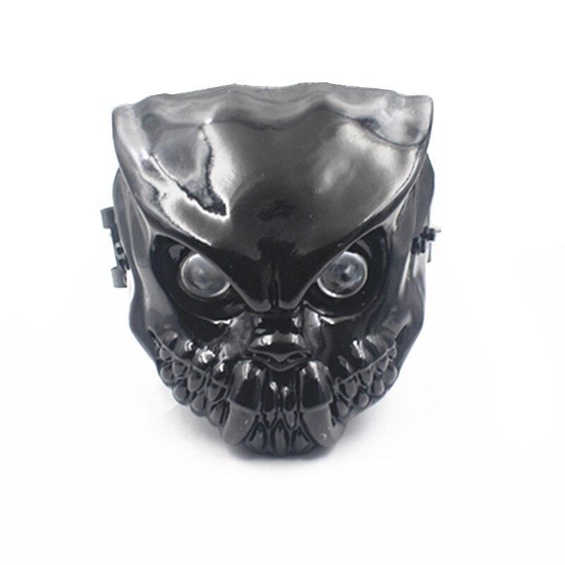 Lampe noire faite sur commande de phare de lumière de tête de crâne de LED de moto avec le support de bâti de fourche de 42-46mm pour Harley Honda Yamaha Suzuki