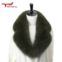 Scarves for women 100% Real Fox Fur Collar Winter Genuine Fox Fur Scarf Men Warm Solid Suit Collar Coat Long Natural Fur Scarves