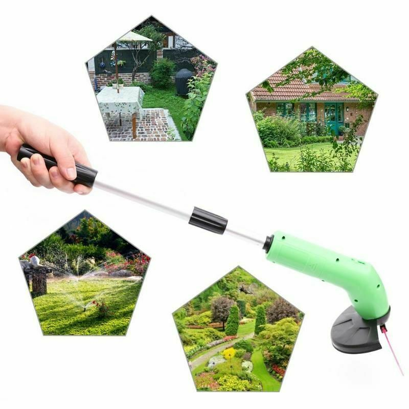 Portable Grass Trimmer Cutter Lawn Mower Cordless Lawnmower Garden Weed Remover Edging Ties Garden Power Tools Retractable Poles(China)