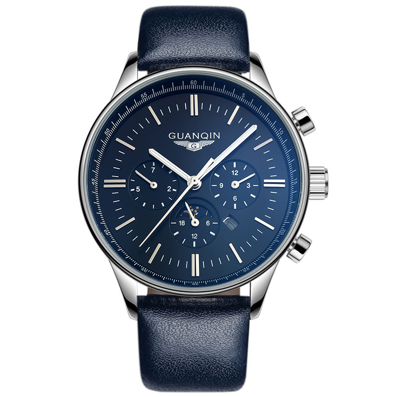 GUANQIN GQ12003 Watches Men Luxury Top Brand New Fashion Mens Big Dial Designer Male Wristwatch relogio masculino relojes