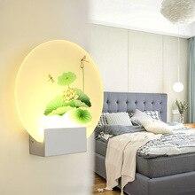Спальня настенный светильник простая гостиная лампа Отель ИНН украшение креативная прикроватная лампа коридор Крытый настенный светильник LM4121440