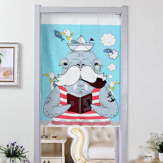 Sailor Walrus Door Curtains 6
