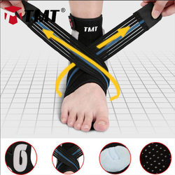 TMT Ankle Brace Basketball Badminton Anti Verstauchung Sprunggelenk Schutz Elastische Unterstützung Fußball pression Bandage Einstellbar Schützen Fuß