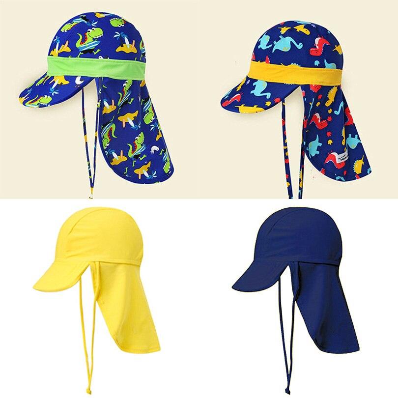 24bafe351 Kids Children Summer UPF 50+ UV Protection Outdoor Beach Sun Hat Boy Girl  Swim Cover