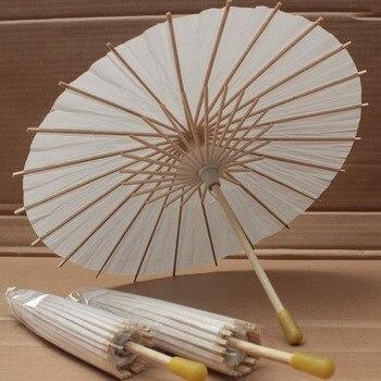 50pcs per lot Radius 15cm diamenter 30cm white Paper Umbrella Parasol children drawing