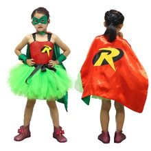 2019 Girls Batman Costume tutu Dresses Summer for Kids 2-8Y Party Childrens Clothes Photography clothing