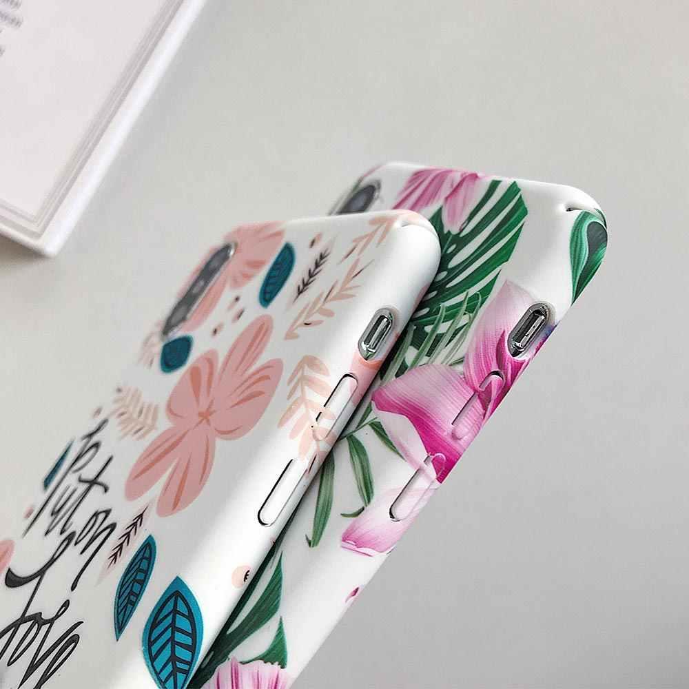 KISSCASE funda de teléfono de flor luminosa para Huawei P Smart 2019 a prueba de golpes funda Floral para Huawei P20 Lite P30 Lite P20 pro P30 Pro