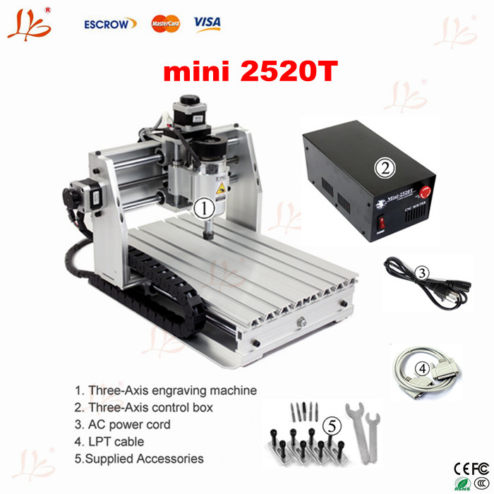 no tax to EU LY 2520T 3axis mini CNC engraver