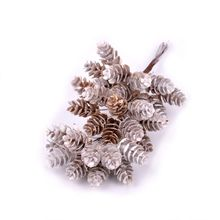 DIY Plant Artificial Pineal Flowers Ornament Fairy Garden House Home Landscape Christmas Decoration Gift