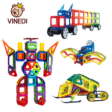 VINEDI большой размер Магнитный конструктор Строительный набор модель и строительная игрушка магниты магнитные блоки Развивающие игрушки для детей