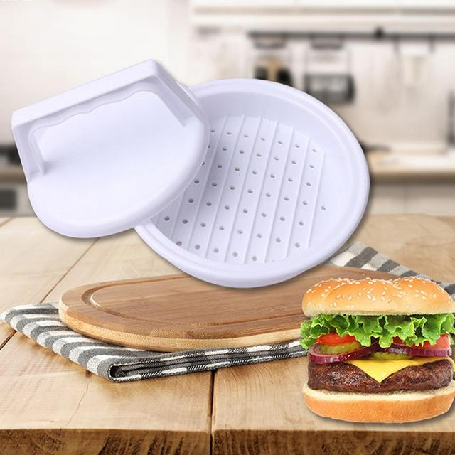 1 pc Hamburger Mold Maker Multi-function Sandwich Meat Kitchen Barbecue Tool DIY Home Cooking Tools White W45 2