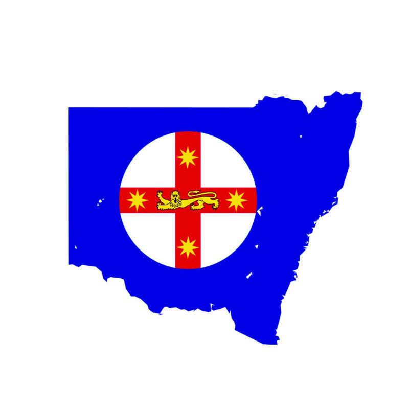 Australia Map And Flag.Yjzt 13cm 11 2cm Accessories Wales Australia Map Car Sticker Flag Moto Decal 6 0880