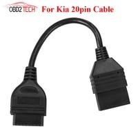 Hohe Qualität für KIA 20Pin Stecker auf OBD 2 OBDII 16 Pin 16Pin Weibliche Auto Diagnostic Tool Adapter Kabel