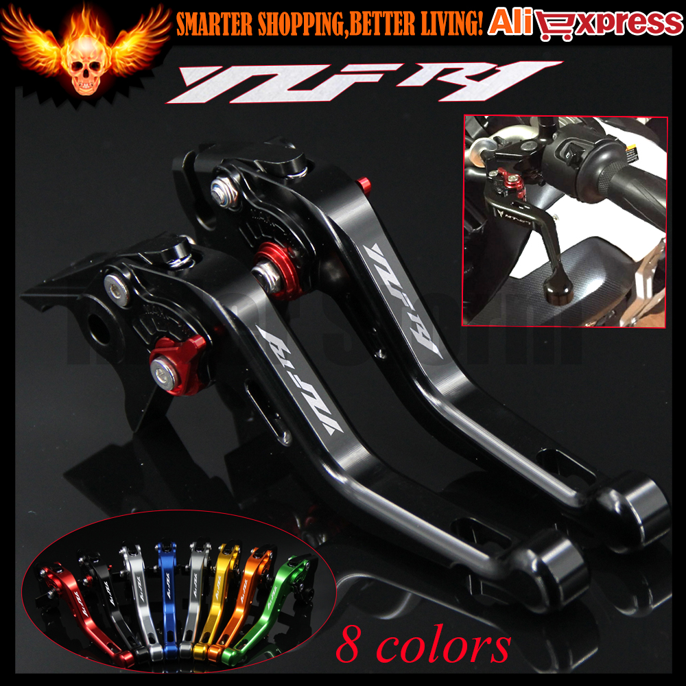 ФОТО 8 Colors Laser Logo(YZF R1) New CNC Aluminum Black Motorcycle Short Brake Clutch Levers For Yamaha YZF R1 2002 2003