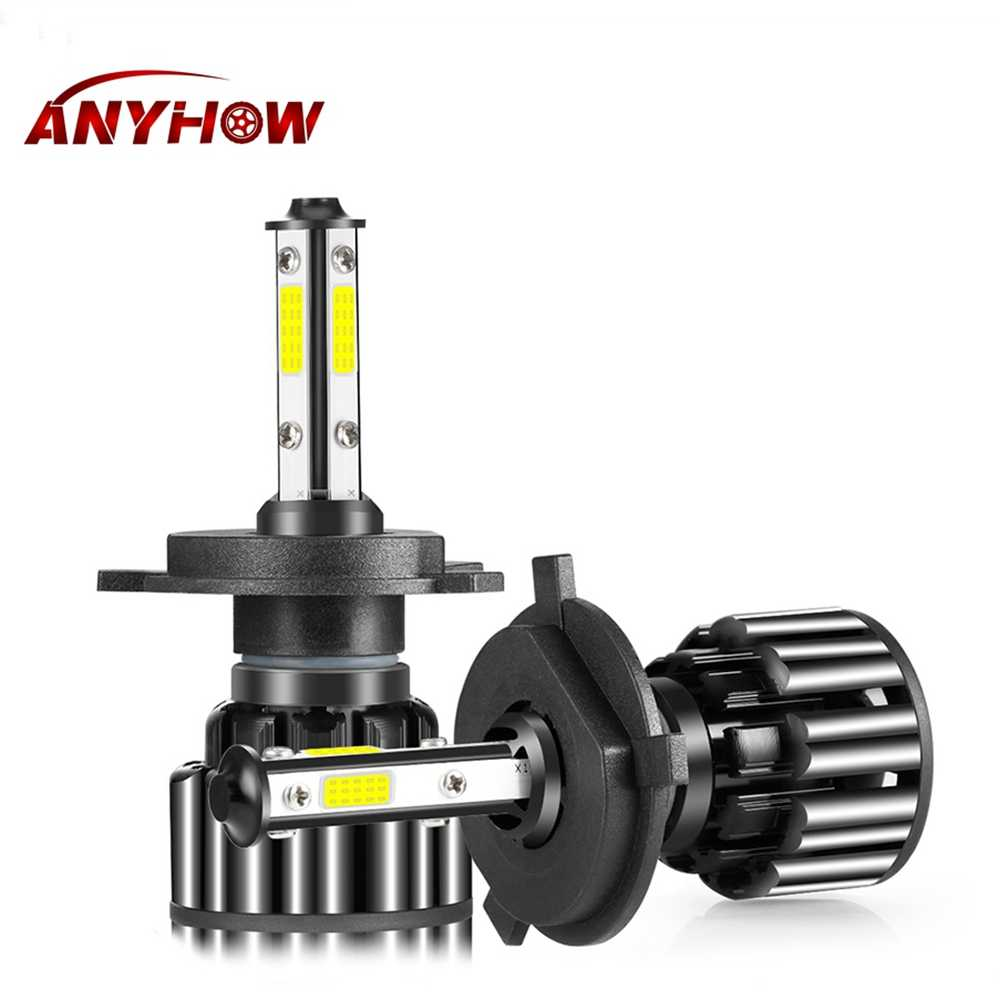 100W 10000LM H7 LED 4 Side Chips Car Headlight Fog lights H4 H11 H13 5202 9012 9007 9005 9006 6000K LED Lights for Auto Headlamp