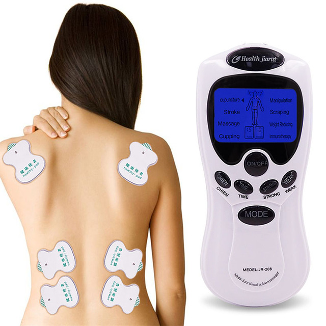 Digital Therapy Machine (8 Pads)  For treating Stroke, Arthritis, Stress Relieve, Fat Burn, Reduce Weight, Cure Chronic Pain, Self Pampering, Injury Recovery, Paralysis, High Blood Pressure, Aches, Energy Failure, Stiff Shoulder, Cupping, Manipulation, Scrapping, Immune Therapy.Muscle Stimulation, Body Relaxation, Pulse Acupuncture
