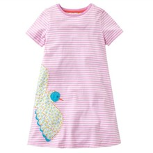 Baby Girl Dresses Birds Printed European and American Style Summer Hot Selling Children Clothes Toddler