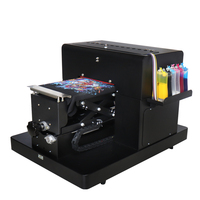 High quality A4 size Flatbed Printer Machine A4 size DTG dtg printer direct to garment printer t shirt cloth printing machine