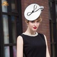 New European Fashion Hat Lady Elegant Dress Up Cap All match Party Fedoras Hat Girls Church Cap Wear B 7525