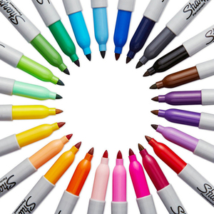 Image 5 - Sharpie Marker Pen Set 12/24 Colored Fine Bullet  For School &Office Drawing Design Paints Art Marker Supplies Stationery