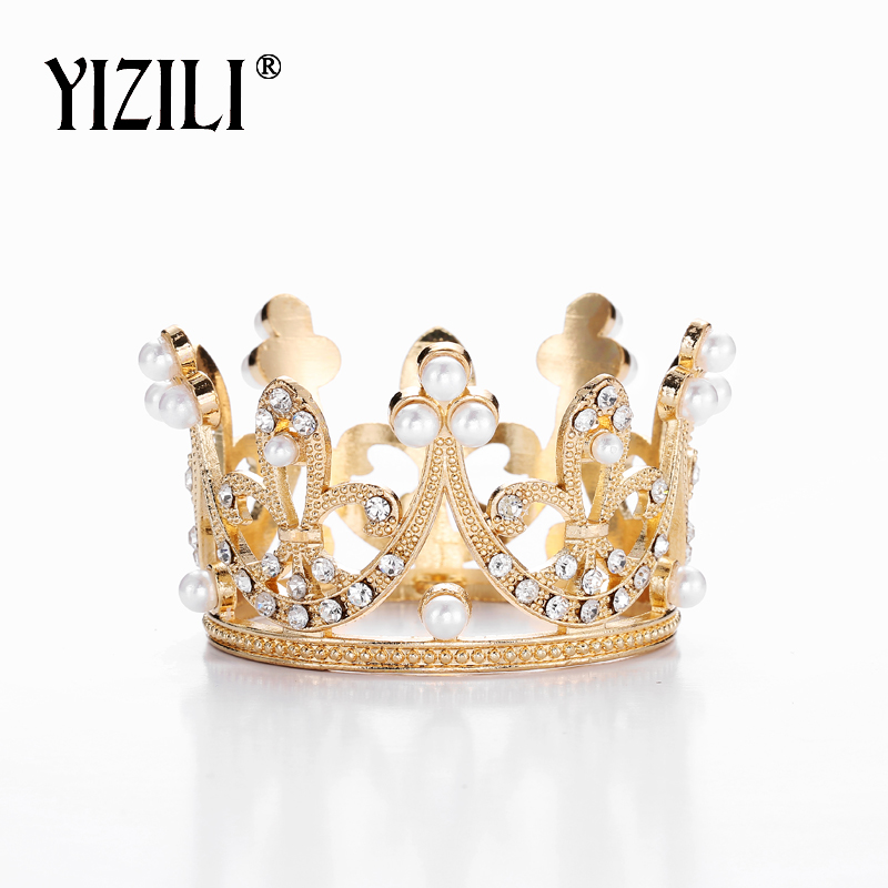 YIZILI New Wonderful Small Girls Crown Tiara Hair Combs Gorgeous Crystal Party Mini Tiara Wedding Hair Accessories Jewelry C025