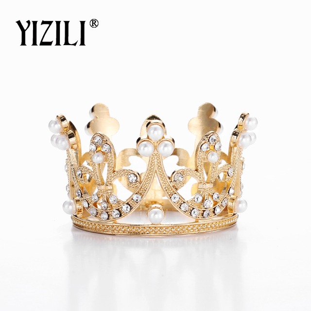 YIZILI New wonderful Small Girls Crown Tiara Hair Combs gorgeous Crystal Party Mini Tiara Wedding Hair Accessories Jewelry C025