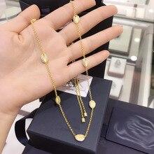 UMGODLY бренд желтое золото цвет Toi Et Moi раковины ракушка Циркон ожерелье Регулируемые колье для женщин Роскошные ювелирные изделия