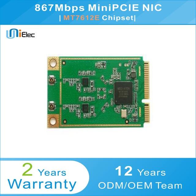 MTK MT7612 2x2 21dbm 5GHz 802.11ac/n/a 867Mbps MT7612E MiniPCIE Support omnipeek NIC PCBA ODM OEM WiFi Custom Board