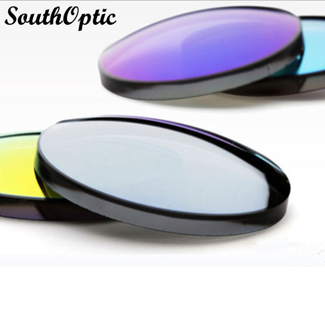 1.56 Myopic Colorful Polarized REVO MIRRIOR Lenses For Driving Fishing Outdoors With Free Lens Cut and Frame Fitting Service