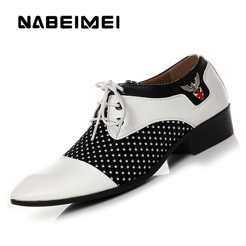 Chaussure homme pointed toe dress shoes big size 5 5 10 5 mixed colors microfiber formal