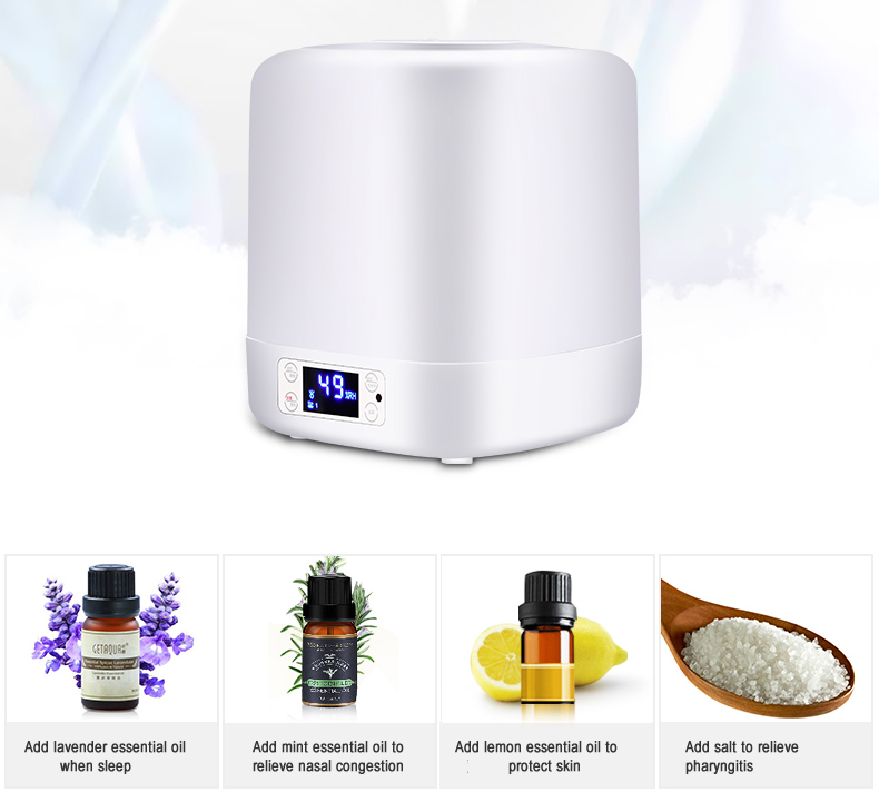 Anion Essential Aroma Oil Diffuser Ultrasonic Air Humidifier Office Hotel Remote Control Night Light 220V Air Humidifier