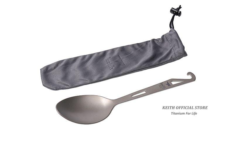 Keith Titanium Ti5317 Spoon with Bottle Opener