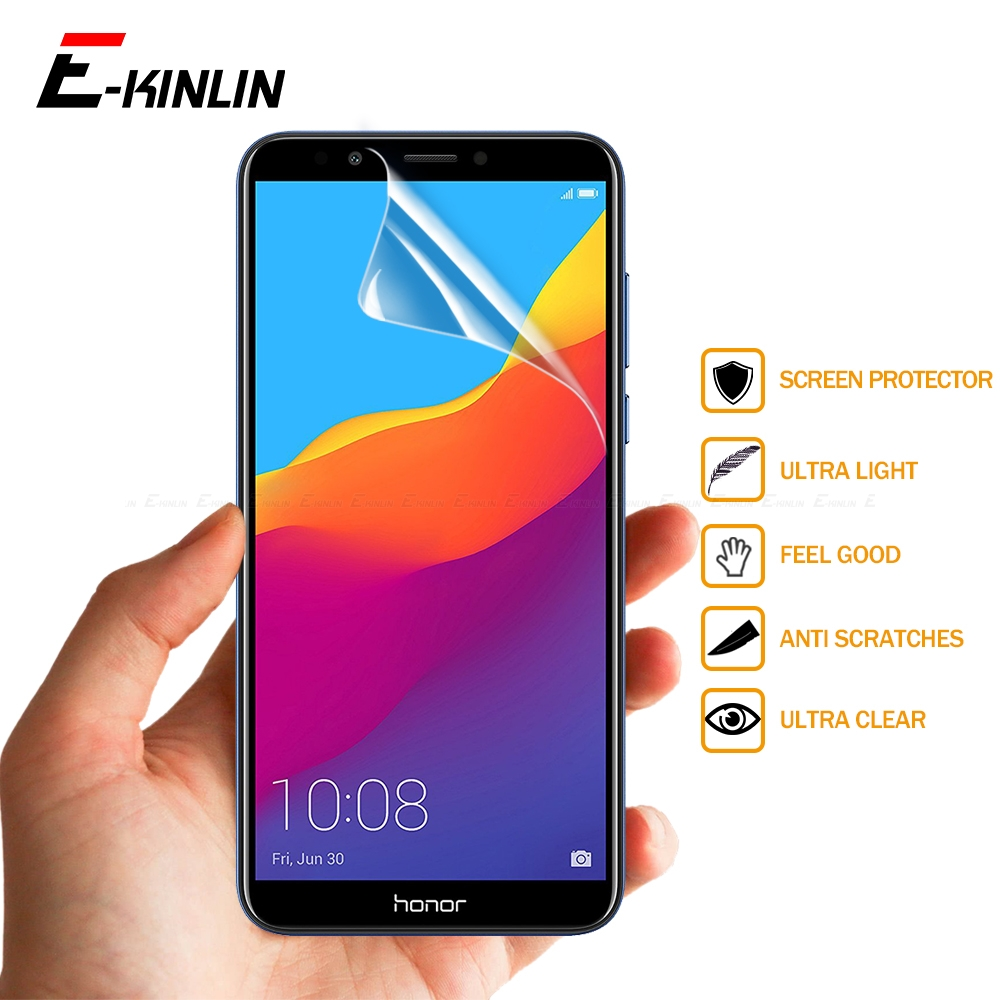 2pcs Clear Soft Nano Explosion Proof Screen Protector Protective Film For HuaWei Honor 7S 7A 7C Pro 8C 8A 8S 8X Max 9X Premium