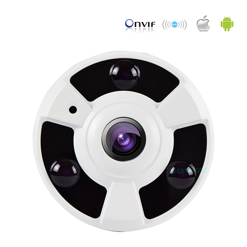 Mini HD 2.0MP P2P 360 Degrees Panoramic Fisheye IP Camera Security CCTV Dome IR 960P Android IOS Remote ONVIF