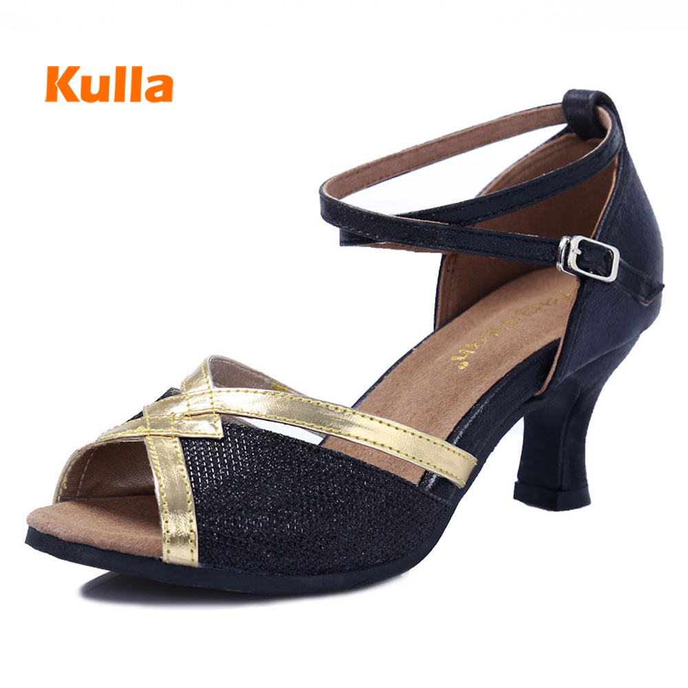New Women Dancing Shoes For Latin/Tango/Salsa Ballroom/Square/Party Girl Ladies Modern Dance Shoes Heeled 6cm Soft Rubber Bottom
